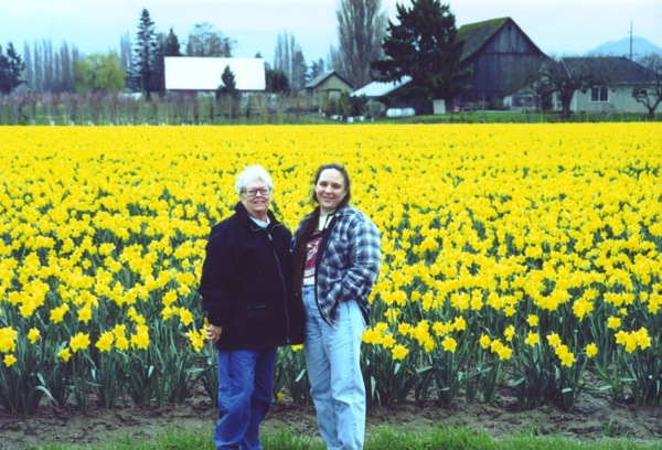 Mom, Margaret & Daffodils